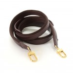 Louis Vuitton Burgundy Leather Shoulder Strap For Bags