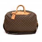Vintage Louis Vuitton Alize 2 Poches Monogram Canvas Travel Bag + Strap
