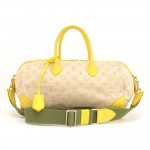 Louis Vuitton Denim Speedy Round PM Yellow Leather 2Way Bag 2012 Limited