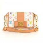 Louis Vuitton Patty White Multicolor Monogram Canvas Pochette Hand Bag