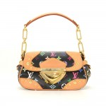 Louis Vuitton Marilyn Black Multicolor Monogram Canvas Hand Bag