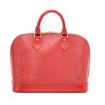 Louis Vuitton Alma Red Epi Leather Hand Bag