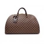 Louis Vuitton Ribera GM Ebene Damier Canvas Boston Bag