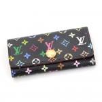 Louis Vuitton Multicles 4 Black Multicolor Monogram Canvas Key Case