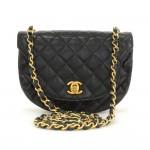 Chanel Flap Black Quilted Leather Shoulder Mini Bag
