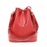 Louis Vuitton Noe Large Red Epi Leather Shoulder Bag
