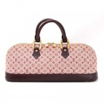 Louis Vuitton Alma Long Red Mini Monogram Canvas Handbag