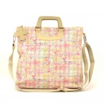 Chanel Multicolor Canvas XLarge 2way Shoulder Tote Clover Bag
