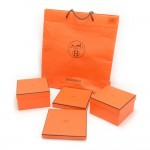 Hermes Orange Large Shopping Bag + Small Boxes Set of 4
