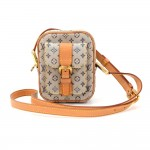 Louis Vuitton Juliette PM Blue Mini Lin Monogram Canvas Pochette Bag