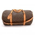 Vintage Louis Vuitton Sac Polochon 65 Monogram Canvas Large Duffel Bag + Strap