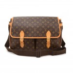 Louis Vuitton Sac Gibeciere GM Monogram Canvas Large Messenger Shoulder Bag