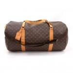 Vintage Louis Vuitton Sac Polochon 60 Monogram Canvas Large Duffel Bag + Strap