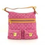 Louis Vuitton Baggy GM Pink Fuchsia Monogram Denim Shoulder Hand Bag - 2006 Limited