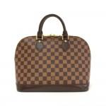Louis Vuitton Alma Damier Canvas Hand Bag