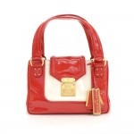 Louis Vuitton Red Sac Bicolore Vernis Leather Hand Bag - 2003 Limited