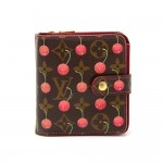 Louis Vuitton Compact Zip Cherry Monogram Canvas Wallet - 2005 Limited Edition