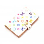 Louis Vuitton Carnet de bal White Multicolor Canvas Mini Agenda Cover