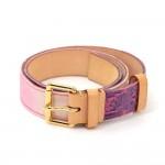 Louis Vuitton Pink Purple Ceinture Monogram Denim Belt Size 80/32