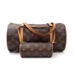 Louis Vuitton Papillon 30 Monogram Canvas Hand Bag + Pouch