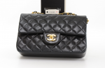 Chanel 2.55 Double Flap Black Quilted Leather Shoulder Bag