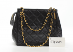 Chanel 9inch Black Quilted Caviar Leather Small Tote Hand Bag