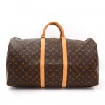 Louis Vuitton Keepall 55 Monogram Canvas Duffle Travel Bag