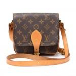 Vintage Louis Vuitton Cartouchiere PM Monogram Canvas Shoulder Bag