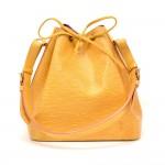 Vintage Louis Vuitton Petit Noe Yellow Epi Leather Shoulder Bag