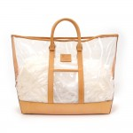 Louis Vuitton Isaac Mizrahi Clear Vinyl x Leather Limited Tote Bag