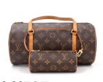 Louis Vuitton Papillon 30 Monogram Canvas Hand Bag + Pouch