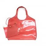 Louis Vuitton Plage Lagoon GM Red Vinyl Beach Bag + Pouch