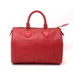 Vintage Louis Vuitton Speedy 25 Red Epi Leather City Hand Bag