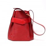 Vintage Louis Vuitton Sac Depaule PM Red Epi Leather Shoulder Bag