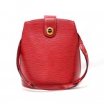 Vintage Louis Vuitton Cluny Red Epi Leather Shoulder Bag