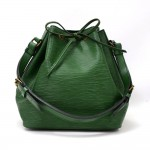 Vintage Louis Vuitton Petit Noe Green Epi Leather Shoulder Bag