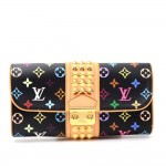 Louis Vuitton Pochette Courtney Black Multicolor Monogram Canvas Clutch Bag