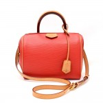 Louis Vuitton Doc BB Red Coquelicot Epi Leather Hand Bag + Strap