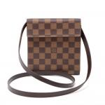 Louis Vuitton Ebene Damier Canvas CD Case + Strap