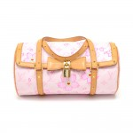 Louis Vuitton Cherry Blossom Papillon Pink Monogram Canvas Murakami Hand Bag