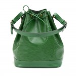 Vintage Louis Vuitton Noe Large Green Epi Leather Shoulder Bag