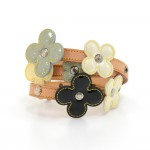 Louis Vuitton Flower Motif Belt In Multicolor Vernis Leather x Cowhide Leather