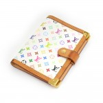 Louis Vuitton Agenda PM White Multicolor Monogram Canvas Agenda Cover
