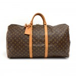 Vintage Louis Vuitton Keepall 60 Monogram Canvas Duffle Travel Bag