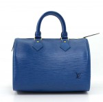 Vintage Louis Vuitton Speedy 25 Blue Epi Leather City Hand Bag