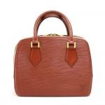 Vintage Louis Vuitton Sablon Brown Kenyan Fawn Epi Leather Hand Bag