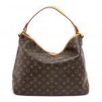 Louis Vuitton Delightful MM Monogram Canvas Shoulder Tote Bag