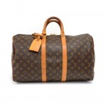 Vintage Louis Vuitton Keepall 45 Monogram Canvas Duffle Travel Bag