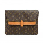 Vintage Louis Vuitton Pochette Pliant Monogram Canvas Envelope Clutch Bag