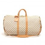 Louis Vuitton Keepall 55 Bandouliere Damier Azur Duffel Travel Bag + Strap